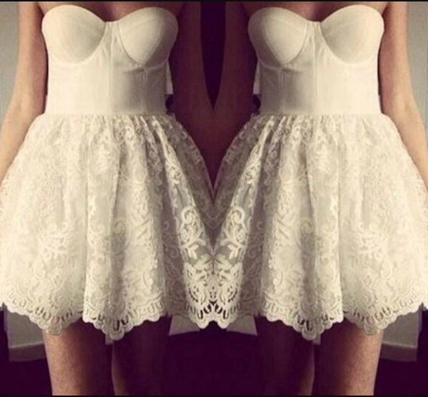 Newest Design White Sweetheart Strapless Short Lace Skater Dress Short Mini  Homecoming Dress Special Occasion Dresses Formal Dress Plus Size ...