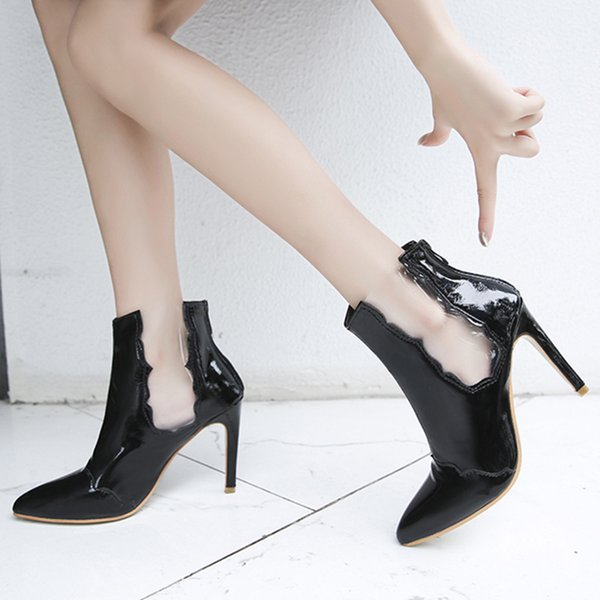 Winter boots women shoes fashion stiletto pointed sneakers women boots convenient winter ankle casual shoes woman