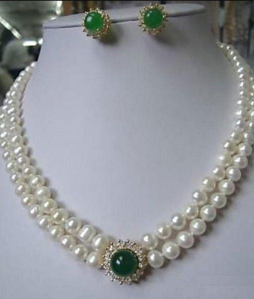 schmuckfrei 07902 Edelste Perlenkette grün
