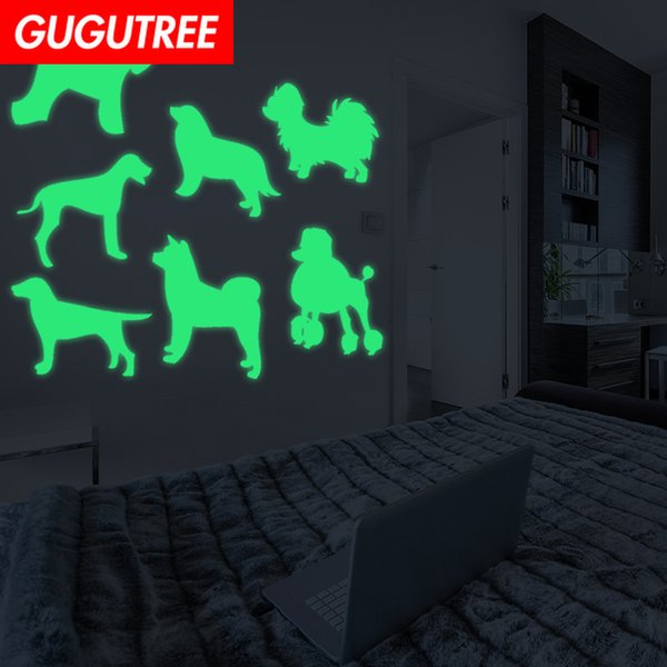 Decorate Home Diy dogs cartoon art glow wall sticker decoration Decals mural painting Removable Decor Wallpaper G-476