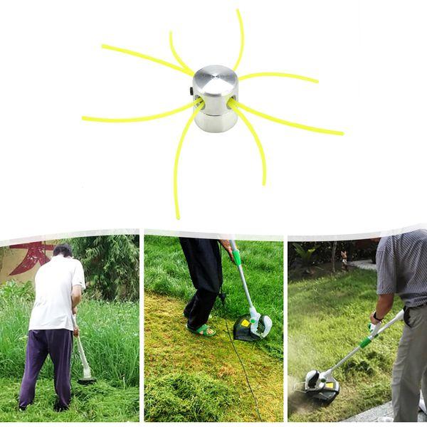 4 Satır Ile çim Düzeltici Kafa Fırça Kesici Kafa Çim Biçme Aksesuarları Strimmer Değiştirme için Kesme Hattı