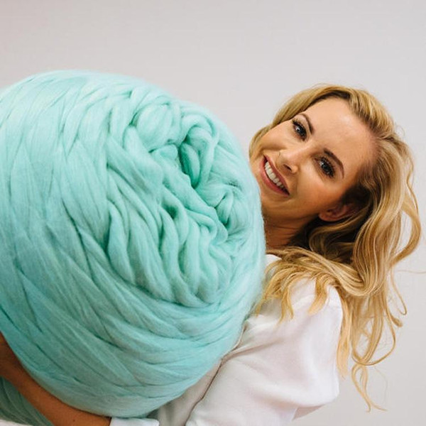Filati Lana Chunky fai da te per maglieria Blanket Sciarpa Hat Super Ball spesso naturale a filatura a mano accessori per la maglieria Spin