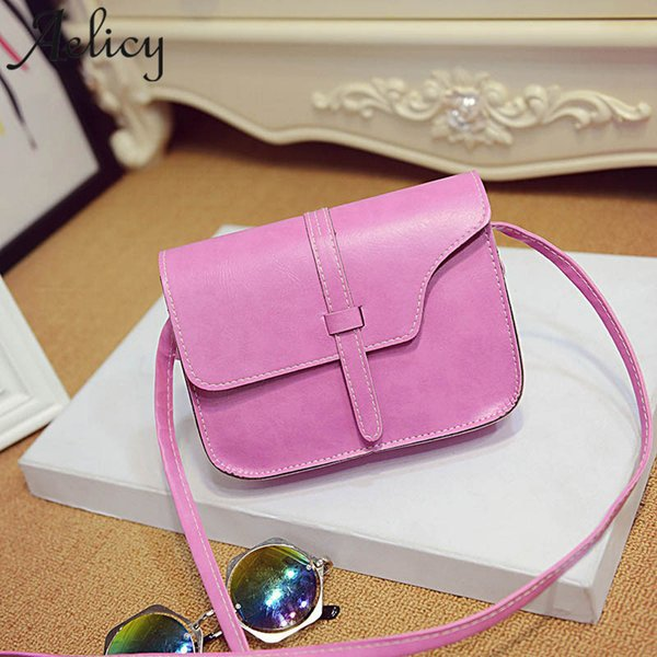 Cheap Aelicy 2018 Women Messenger Bag New Fashion Light High Quality Woman Chain Faux Leather Satchel Shoulder Bags Messenger Bags