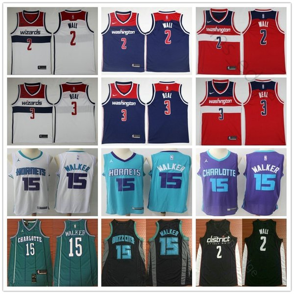 outlet store 8cf83 ef46c 2018 2019 City Edition Charlotte Hornets 15 Kemba Walker Jersey Washington  Wizards 2 John Wall 3 Bradley Beal Basketball Jerseys From Fans_edge, ...