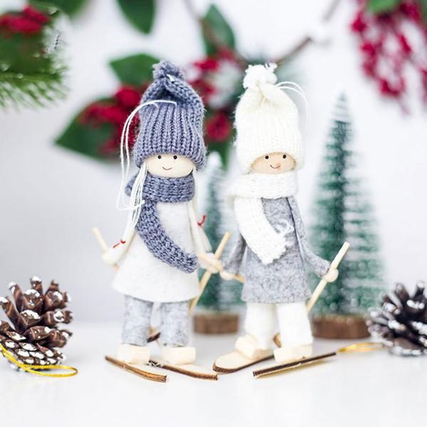 Addobbi Natalizi 2020.Acquista Capodanno 2020 Bambole Noel Natale Angeli Santa Claus Pendenti Ornamenti Addobbi L Albero Di Natale L Artigianato Dei Capretti Di Natale A