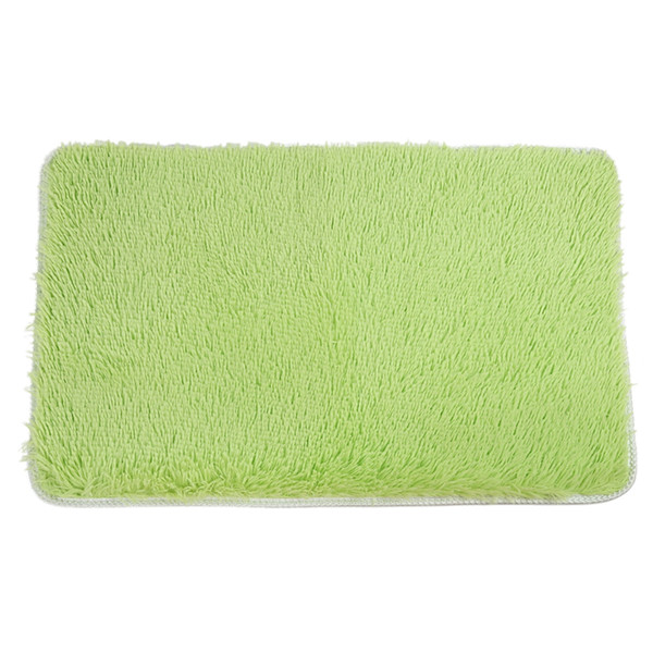 Fluffy Rugs Anti-Skid Area Rug Dining Room Home Bedroom Carpet Floor Mat(19.6 inch x 31.5 inch , Green)