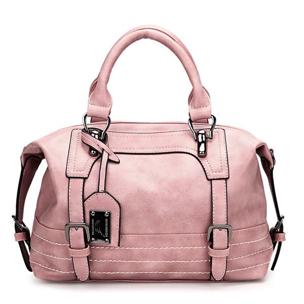1 women handtasche boston frauen umhängetasche leder nieten quaste rosa umhängetasche luxus handtaschen frauen taschen designer vintage