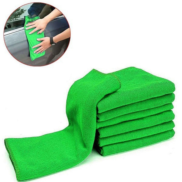 top popular 10PCS bag Hot Sale New Soft Auto Detailing Green Microfiber Car Towel Wash Detailing Towel Cleaning Duster For Car Cleaning 2019