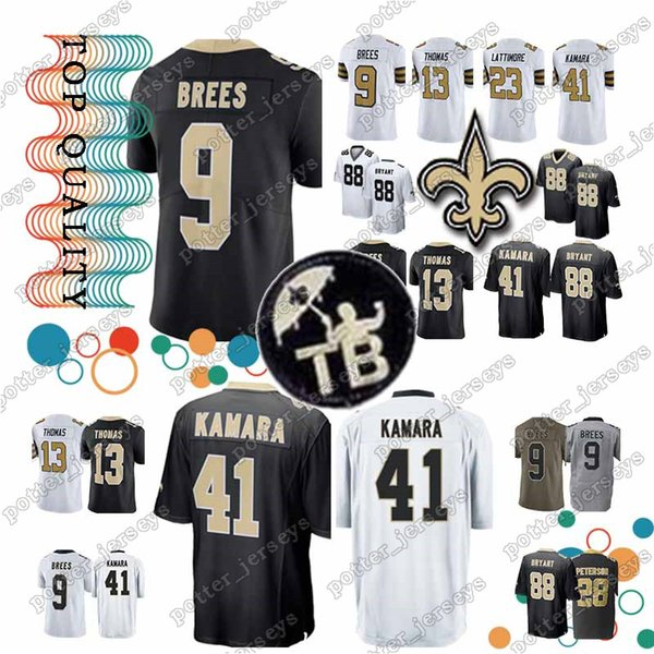 Cheap sales New Orleans Saints jersey 41 Alvin Kamara 9 Drew Brees 88 Dez  Bryant 23 7e42e0d20