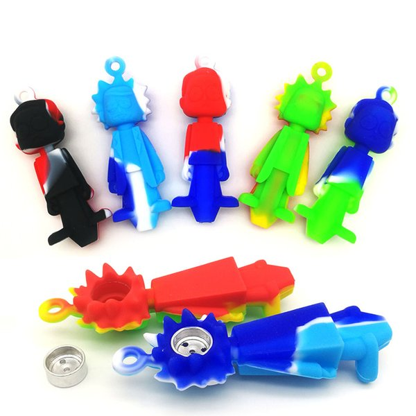 best selling New Style Pipe Hand Silicone Pipes Silicone Bongs Oil Nail Hand Pipe Smoking Accessories free shipping