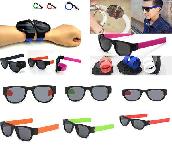 Sonnenbrille frauen slap sonnenbrille männer polarisierte slappable armband armband falten shades mode spiegel oculos bunte dc371