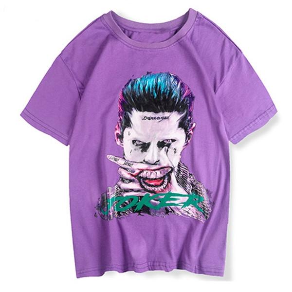 3d Imprimer Joker Caractère De Mode À Manches Courtes T-shirts Hommes 2019 D'été Hip Hop T Shirt Couple Harajuku Streetwear