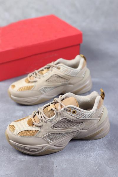 2019 Hottest M2K TEKNO Dad Shoes Corduroy Pack Linen Wheat-Ale Brown Men designer Casual Breathable jogging shoes size40~45