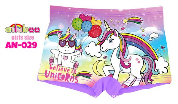 Unicorn girlss boxer briefs cute kids underwear kids designer clothes girls briefs Children Briefs girls Panties kids boxers A7347