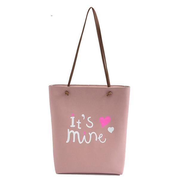 good quality Women's Letter Purses And Handbag Female Sweet Cute Shoulder Bag 2 Set/pcs Messenger Bag For Teenager Girl