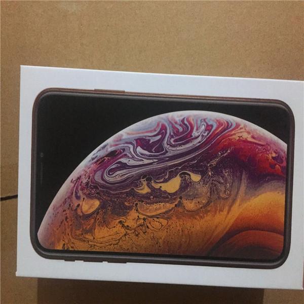 10 unids venta al por mayor EE.UU. EE. UU. Versión Reino Unido para iPhone XR XS MAX Paquete de teléfono vacío Caja de la caja de embalaje Sin accesorios caja de teléfono protectores