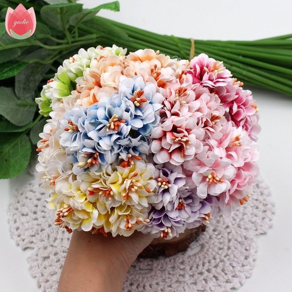 e9ef573d73eb2 2019 Silk Gradient Stamen Artificial Flowers Handmade Bouquet For Wedding  Home Decoration DIY Scrapbooking Wreath Fake Flowers From Esw_house, $0.48  | ...