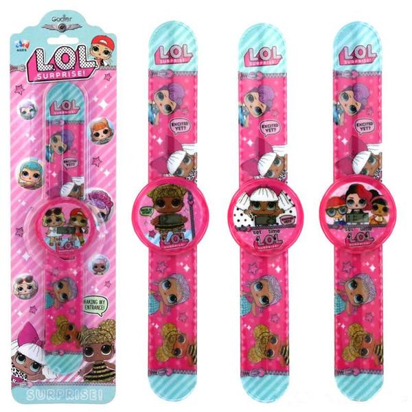 top popular cartoon doll watch fashion girl Electronics calendar time wrist watches children kids Jewelry Christmas gift zx0031 2020