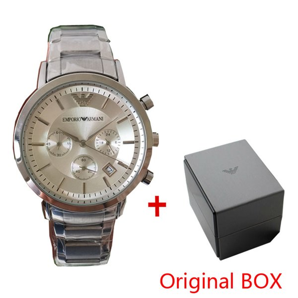 Hot Selling Top luxury New AR2434 AR2448 AR2454 AR2453 Stainless Steel Classic Mens Wristwatch Men Watch Original Box All functional work