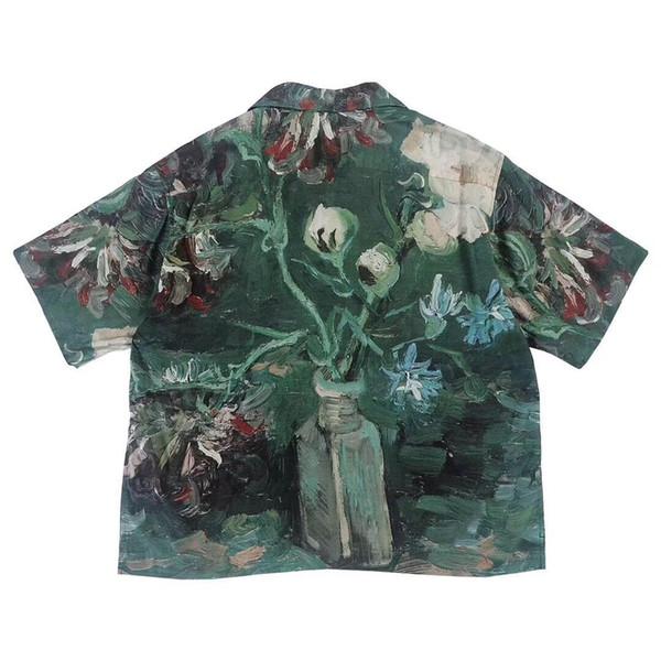 19SS UNUSED Van Gogh Museum Tee Fashion Retro Art Style High Quality Short Sleeve Couples Women Men'S Designer T Shirt HFKYTX016 Funny T Shirts Mens