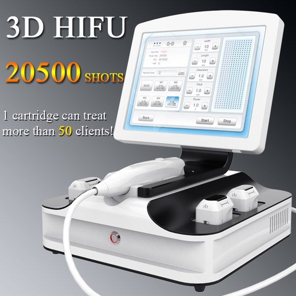 Máquinas de ultrasonido HIFU 3D de alta intensidad centradas HIFU terapia de estiramiento de la piel cuerpo shaper adelgazar hifu belleza máquina
