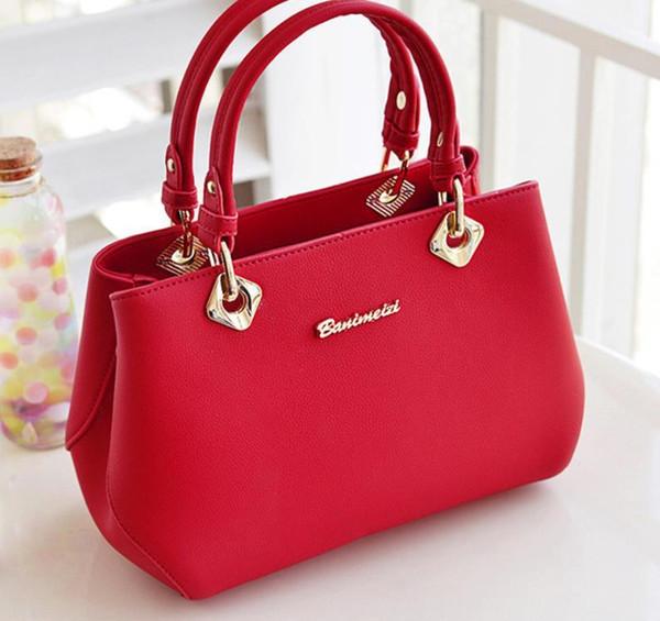 Ms. 2019 versione coreana della nuova borsa da donna primavera ed estate tendenza semplice borsa moda diagonale singola spalla pacchetto rosso