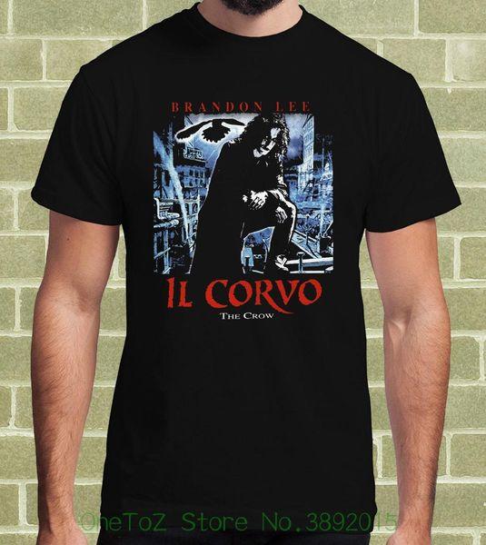 Männer T-Shirt Tops Kurzarm Baumwolle Fitness T-shirts Il Corvo The Crow T-Shirt Pro Uomo E Bambino