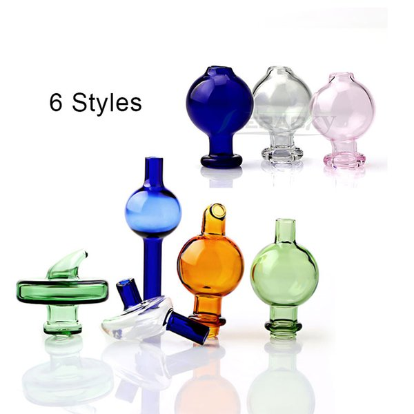 Glass Carb Caps Directional Bubble Ball UFO Cap Puffco Peak Insert Carb Caps For Quartz Banger Nails Glass Water Bongs Dab Rigs Pipes