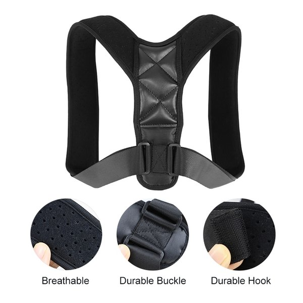 Back Shoulder Posture Corrector Adjustable Shoulder Belt for Back Support Effective Neck Upper Pain Relief Spine Support #680322