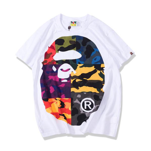 мужская футболка летние подростки досуг цветная печать футболки с коротким рукавом футболка 2019