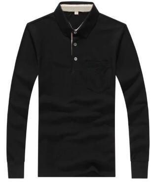 Экспресс зима мужчины Лондон Brit повседневная рубашки с длинным рукавом твердые рубашки хлопок Англия Спорт тис топы белый черный S-XXL 1123