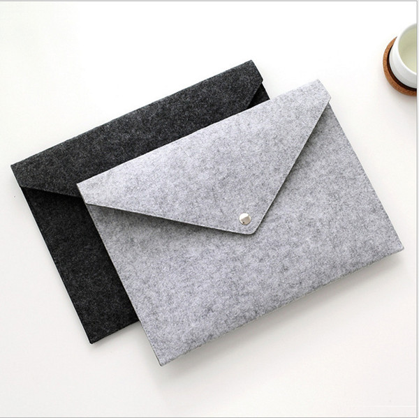 top popular File Folder Felt Holder Documents Envelope Luxury Office Durable Briefcase Document Bag Paper Portfolio Case Letter Envelope A4 Folders 2021