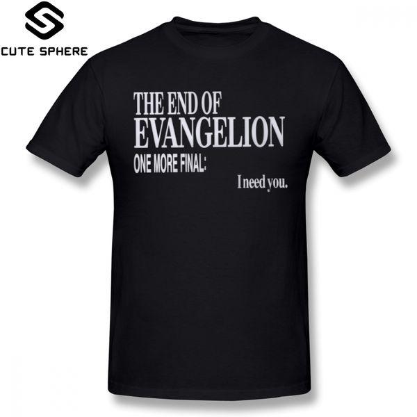 Evangelion T-Shirt The End Of Evangelion T-Shirt Kurzarm-Spaß-T-Shirt XXX Sommer Male Printed Cotton T-Shirt