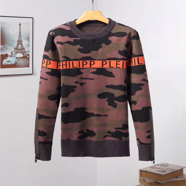 top popular 2019 brand hooded sweatshirt men's tiger head embroidery pullover hoodie designer street sweater men's hooded sweatshirt 2019