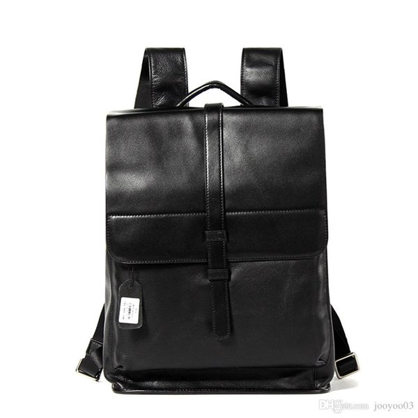 Personality Wild Leather Shoulder Bag First Layer Cowhide Fashion Trend Men's Backpack Leisure Travel Large Capacity Bag jooyoo