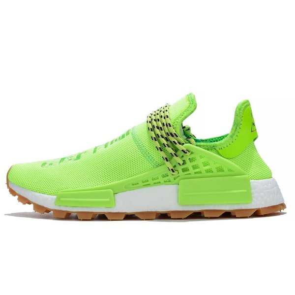 high quality Pharrell Williams Fluorescent Running Shoes Women Men Trainers Human Race 3M Reflector Sneakers 36-47