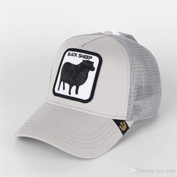 Fashion Visor Women Sheep Summer Mesh Caps Embroidery Butch Dogs Animals Baseball Hats Men Adjustable Sun Hat Ball Cap Lover Gift