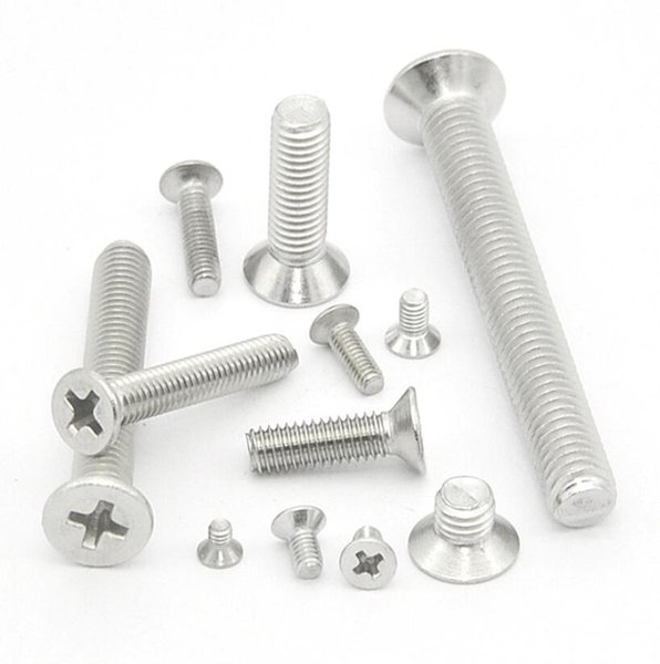 top popular New High Quality 304 stainless steel M2.5 M3 M4 Cross recessed countersunk head screws Wholesale 2021