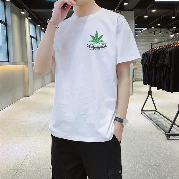 Homens marca Designer T Camisa Pure White Verão Novo Homem Mangas Curtas Em Torno Do Pescoço de Luxo Camisa Casual T Projeto Por Própria Auto DIY Marca Homens camiseta