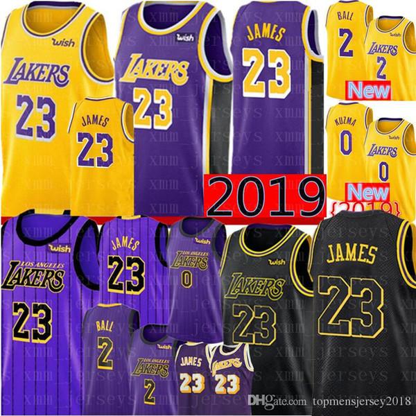2019 2019 Los Angeles 23 LeBron James Lakers 2 Lonzo #Ball 0 Kyle # Kuzma  14 Brandon # Ingram 24 Kobe # Bryant Basketball Jerseys From