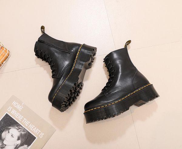 Carregadores dos homens de marca popular Martens botas tornozelo de inverno sapatos de couro quentes motocicleta plataforma muffin de oxford sapatos masculinos da pele das Doc Martens 685