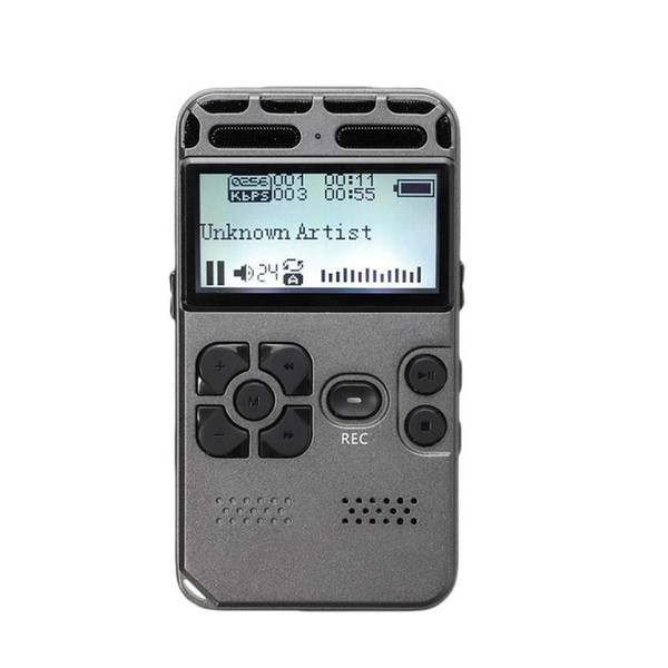 Aprendizaje Digital de Nueva recargable HD 8 GB de grabación profesional de la pluma grabadora de audio Dicta Teléfono LCD Grabadora Equipo de grabación