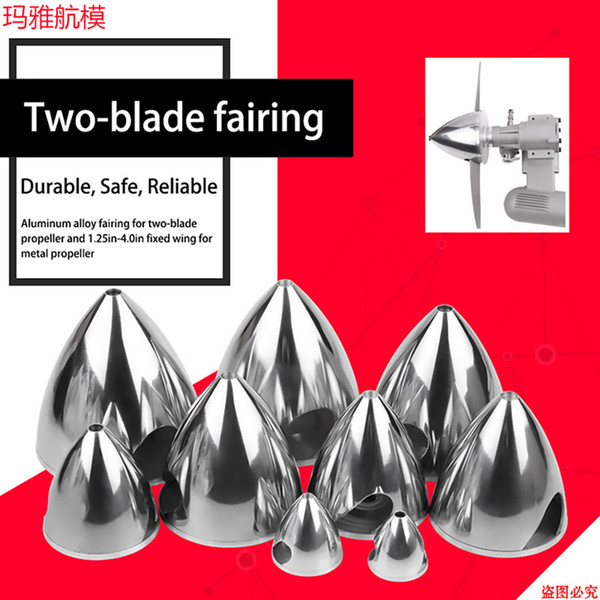 Cubierta de paleta metálica Aleación de aluminio 2 cuchillas Cubierta de hélice Carenado 32/38/45/51/57/64/70/76/82/89/95/102 mm para RC 1.25in-4.0in