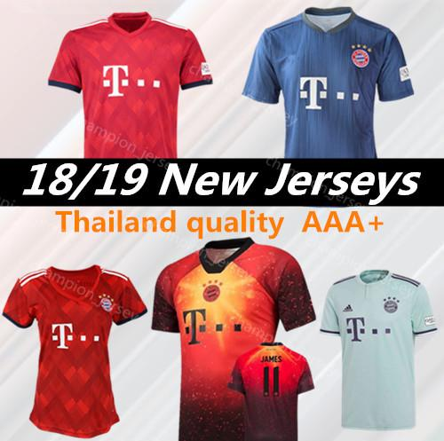 new style b64f2 af484 2019 Thailand Quality 18 19 Soccer Jerseys Robert Lewandowski Leon Goretzka  Arjen Robben James Rodriguez Thomas Muller Jersey Football Shirt From ...