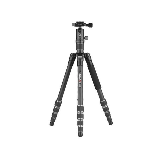 OPQ-Kingjoy G22C+G00 Portable Travel Camera Tripod Monopod With 360 Degree Ball Head 5-Section For Canon Sony Nikon Dslr Ildc
