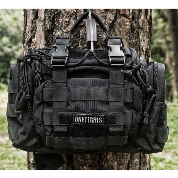 OneTigris Tactical MOLLE Hunting Waist Bag Pack For Men 3 Ways Modular Deployment Utility Bag Heavy Duty with Shoulder Strap #263403