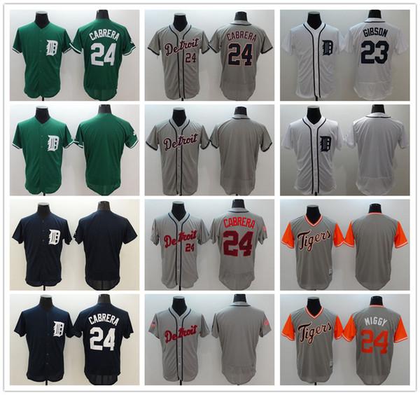 newest 2a992 7d27c Mens Majestic Detroit Tigers Cool Base Custom Baseball Jerseys 24 Miguel  Cabrera 23 Kirk Gibson 1