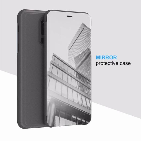 Smartphone Hülle Selbst Gestalten Luxus Spiegel Clear View Case Für Samsung Galaxy A5 A6 A7 A8 Plus A9 2018 A9 Star Lite Telefon Abdeckung