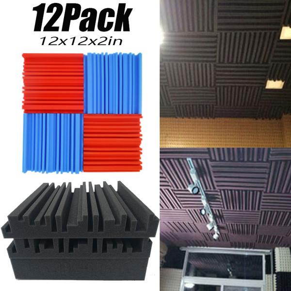 Gravação (12pack) da cunha espuma acústica Estúdio Tecto insonorizadas painéis de telhas de absorção sonora à prova de fogo 12 * 12 * 2in