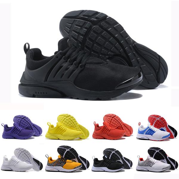 on sale 09b38 7ac50 Nike Air PRESTO 5 BR QS Breathe Triple Nero Bianco Giallo Rosso Uomo Donna  Scarpe da